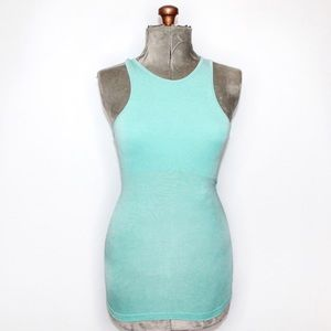 Lululemon Aqua Blue Halter Active Wear Tank Top